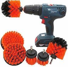 JenLn 6pcs Power Scrubber Brush Set Bathroom Drill