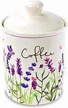 Jennifer Rose Lavender Ceramic Coffee Canister