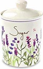 Jennifer Rose Lavender Ceramic Sugar Canister Caddy