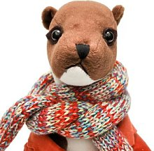 Jenny Blanc - Wilson Weasel Doorstop - Orange/Brown