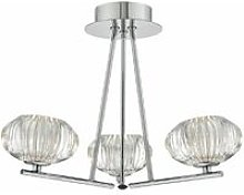 Jensine ceiling light polished chrome and glass 3