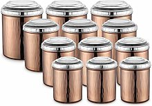 JENSONS 12 PCS Stainless Steel Canister Set in