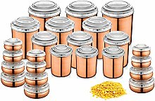 JENSONS 24 PCS Stainless Steel Canister Set (12)&