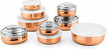 JENSONS 9 PCS Stainless Steel Bally Canister Set