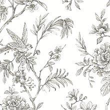 Jessamine Floral Trail 10m x 52cm Wallpaper Roll