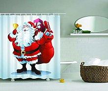 JessFash Cute Cartoon Father Fabric Shower Curtain