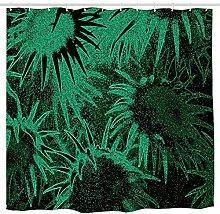 JessFash Green Tropics Bathroom Shower Curtain