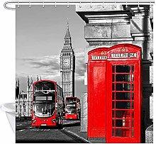JessFash Retro London Big Ben Shower Curtain For