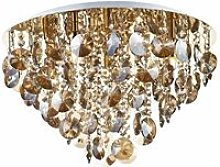 Jester ceiling lamp crystal and polished gold 5