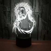 Jesus 3D Night Light Colorful Desk Table Lamp