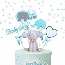 JeVenis 2 PCS Elephant Cake Decoration Boy Baby