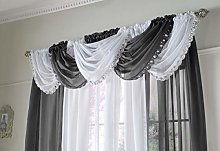 Jewelled Crystal Sparkle Voile Curtain Swag, Bling