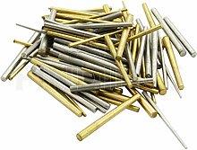 Jewellers Tools 100 x Clock taper pins steel brass