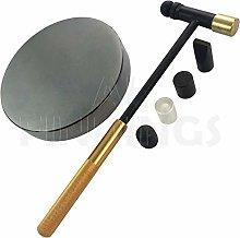 Jewellers Tools ROUND STEEL BLOCK & 6 PART HAMMER