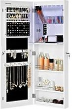 Jewellery Cabinet Frameless Extra Wide Mirrored