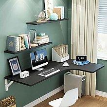 JF White Corner Desk Wall Folding Desk Table L