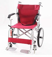 JF-XUAN Wheelchairs Folding Portable Wheelchair,