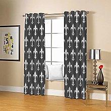JFAFJ 1 Pair Blackout Curtains Soft Gray&Arrow