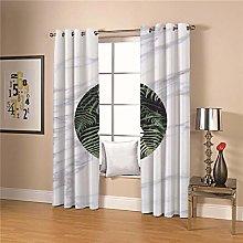 JFAFJ 1 Pair Blackout Curtains Soft Green&Leaf