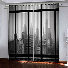 JFAFJ 1 Pair Blackout Curtains Soft Outside the