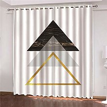 JFAFJ Blackout 3D window curtains Color & triangle