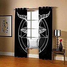 JFAFJ Curtains Black&Sheep Eyelet Kids Curtain
