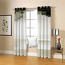 JFAFJ Curtains Chinese style & landscape painting