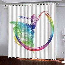 JFAFJ Curtains Color & dance Eyelet Kids Curtain