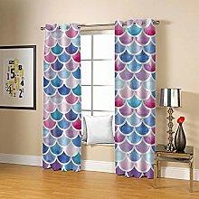 JFAFJ Curtains Color & scales Eyelet Kids Curtain