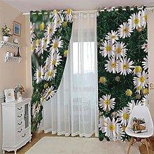 JFAFJ Curtains White & Daisy Eyelet Kids Curtain
