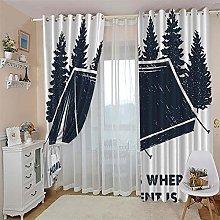 JFAFJ CurtainsAbstract&House Eyelet Kids Curtain