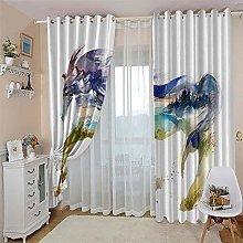 JFAFJ CurtainsAnimals & Horses Eyelet Kids Curtain