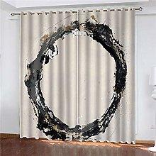 JFAFJ CurtainsBlack&circle Eyelet Kids Curtain