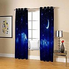 JFAFJ Curtainsblue sky Eyelet Kids Curtain Panels