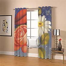 JFAFJ CurtainsColor & flowers Eyelet Kids Curtain