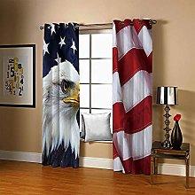 JFAFJ CurtainsEagle & Flag Eyelet Kids Curtain