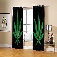 JFAFJ CurtainsGreen&Leaf Eyelet Kids Curtain