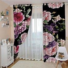 JFAFJ CurtainsPink & Roses Eyelet Kids Curtain