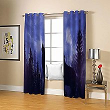 JFAFJ CurtainsPurple & Wolf Eyelet Kids Curtain
