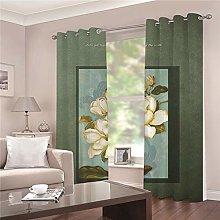 JFAFJ CurtainsRetro & flowers Eyelet Kids Curtain