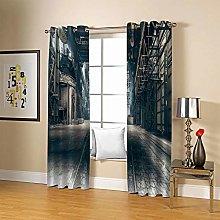 JFAFJ CurtainsRetro & Street Eyelet Kids Curtain
