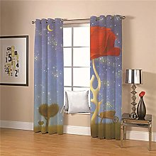 JFAFJ Door Curtain Flowers & Elderly Super Soft