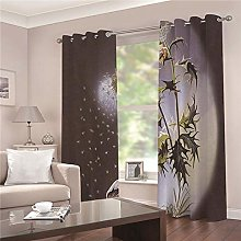 JFAFJ Thermal Blackout Curtains Butterfly & Flower