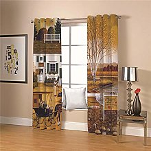 JFAFJ Thermal Blackout Curtains Country & House