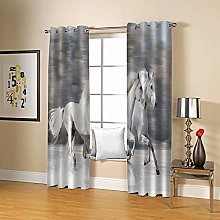 JFAFJ Thermal Blackout Curtains White & White