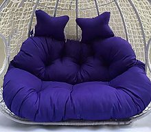 JFFFFWI Double Hanging Egg Chair Cushion,thick