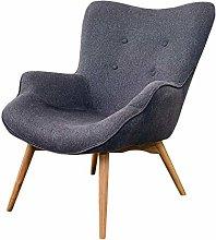 JFFFFWI Lazy sofa, small Nordic sofa (color: dark