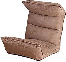 JFFFFWI Lazy Suede sofa, bedroom, single chair,
