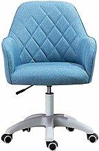 JFFFFWI Linen Desk Chair Ergonomic Adjustable