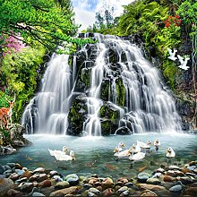 JFZJFZ Photo Wallpaper Waterfall for Walls 3D